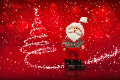 Santa and Christmas Tree Royalty Free Stock Photos