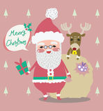 Santa christmas vector design Stock Photo