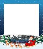 Santa christmas winter frame. Illustration vector illustration