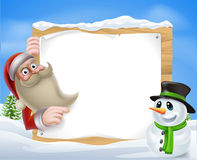Santa Christmas Winter Scene Stock Images