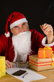 Santa cigarette break Stock Image