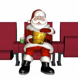 Santa Cinema 3 Stock Images