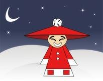 Santa cinese illustrazione di stock