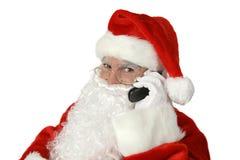 Santa clássica com telemóvel Imagem de Stock