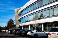 Santa Clara, CA - febbraio 1, 2018: NVIDIA Corp , capo di intelligenza artificiale, GPU, GeForce, 3D gioco, visione 3D Fotografie Stock Libere da Diritti