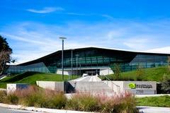 Santa Clara CA - Februari 1 2018: NVIDIA Corp , ledare av konstgjord intelligens, GPU, GeForce, 3D dobbel, vision 3D Arkivfoton
