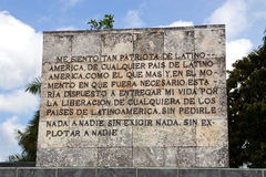 Santa Clara - Che Guevara  writing, Mausoleum Complex, Cuba Royalty Free Stock Photos