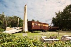 Museum of the decisive battle of the revolution where the train. Santa Clara, Cuba - 10 december 2017: Museum of the decisive battle of the revolution where the stock photo
