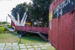 SANTA CLARA, CUBA - 13 FÉVRIER 2016 : Monument au déraillement du train blindé en Santa Clara, CUB photo stock