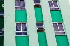 SANTA CLARA, CUBA - FEB 13, 2016: Bullet holes at Hotel Santa Clara Libre in Santa Clara, Cu. Ba royalty free stock photos
