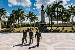 Cuban Soldiers at Che Guevara Mausoleum stock image