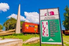 SANTA CLARA, CUBA - SEPTEMBER 08, 2015: Deze trein Royalty-vrije Stock Fotografie