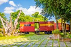 SANTA CLARA, CUBA - SEPTEMBER 08, 2015: Deze trein Stock Fotografie