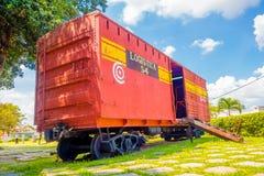 SANTA CLARA, CUBA - SEPTEMBER 08, 2015: Deze trein Stock Afbeelding