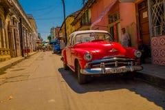 SANTA CLARA, CUBA - SEPTEMBER 08, 2015:View, downtown in the capital city of province, Villa Clara. Stock Images