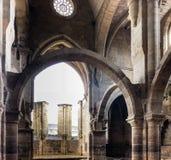 Santa Clara en Velha kloster, Coimbra, Portugal arkivfoton