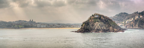 Santa Clara Island Lighthouse Spain Fotografia Stock