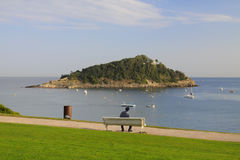 Santa Clara Island in San Sebastian, Gipuzkoa Royalty Free Stock Photos