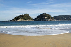 Santa Clara Island in San Sebastian Royalty Free Stock Images