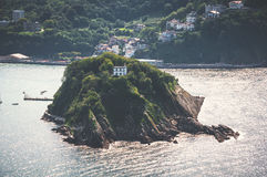 Santa Clara island in San Sebastian, Spain Stock Photography
