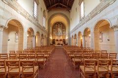 Santa Clara Kalifornia, Styczeń, - 12, 2018: Wnętrze kaplica Karmelicki monaster San Fransisco Carmel Dziecięcy Jezus Obraz Royalty Free