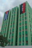 Santa Clara, Kuba, Styczeń 5, 2017: Hotelowy Santa Clara widok od outdoors, antykwarskiego kinowego Camilo Cienfuegos, clory i te zdjęcie royalty free