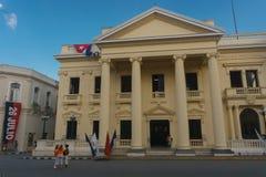 Santa Clara, Kuba, Styczeń 5, 2017: Kulturalny centrum Juan Marinello, Casa De Los angeles Cultura Juan Marinello w Palacio Miejs obraz royalty free