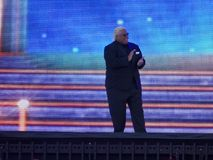 WWE Hall of Fame Class of 2015 inductee Rikishi introduced at Wr. SANTA CLARA - MARCH 29: WWE Hall of Fame Class of 2015 inductee Rikishi introduced at Royalty Free Stock Image