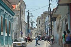 Santa clara street scene royalty free stock images