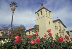 Santa Clara University historic mission church, Mission Santa Clara de Asis, Santa Clara, California Stock Photo