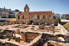 Santa Clara Velha修道院在科英布拉 库存照片