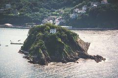 Santa Clara wyspa w San Sebastian, Hiszpania Fotografia Stock