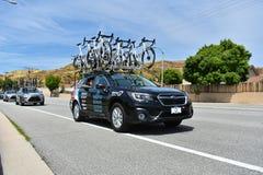 Santa Clarita, Ca De V.S. 18 Mei, 2019 AMGEN-Reis van stadium 7 van Californië ras door Santa Clarita op de manier aan Pasadena,  stock foto