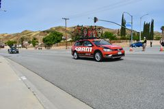 Santa Clarita, Ca De V.S. 18 Mei, 2019 AMGEN-Reis van stadium 7 van Californië ras door Snta Clarita op de manier aan Pasadena, C stock foto