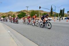 Santa Clarita, Ca De V.S. 18 Mei, 2019 AMGEN-Reis van stadium 7 van Californi? ras door Santa Clarita op de manier aan Pasadena,  royalty-vrije stock foto's