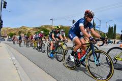 Santa Clarita, Ca De V.S. 18 Mei, 2019 AMGEN-Reis van stadium 7 van Californi? ras door Santa Clarita op de manier aan Pasadena,  stock foto