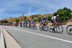Santa Clarita, Ca De V.S. 18 Mei, 2019 AMGEN-Reis van stadium 7 van Californi? ras door Santa Clarita op de manier aan Pasadena,  stock afbeeldingen