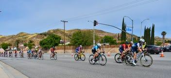 Santa Clarita, Ca De V.S. 18 Mei, 2019 AMGEN-Reis van stadium 7 van Californi? ras door Santa Clarita op de manier aan Pasadena,  royalty-vrije stock fotografie