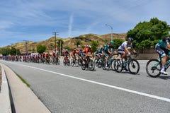 Santa Clarita, Ca De V.S. 18 Mei, 2019 AMGEN-Reis van stadium 7 van Californi? ras door Snta Clarita op de manier aan Pasadena, C royalty-vrije stock afbeelding
