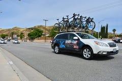 Santa Clarita, Ca De V.S. 18 Mei, 2019 AMGEN-Reis van stadium 7 van Californi? ras door Snta Clarita op de manier aan Pasadena, C stock afbeeldingen