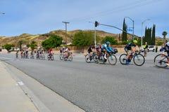 Santa Clarita, Ca Los E.E.U.U. 18 de mayo de 2019 Viaje de AMGEN de la raza de la etapa 7 de California con Snta Clarita en el ca imagen de archivo
