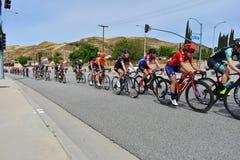 Santa Clarita, Ca U.S.A. 18 maggio 2019 Giro di AMGEN della corsa della fase 7 di California attraverso Santa Clarita sul modo a  immagine stock libera da diritti