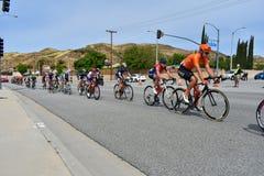 Santa Clarita, Ca U.S.A. 18 maggio 2019 Giro di AMGEN della corsa della fase 7 di California attraverso Santa Clarita sul modo a  immagini stock libere da diritti