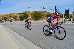 Santa Clarita, Ca U.S.A. 18 maggio 2019 Giro di AMGEN della corsa della fase 7 di California attraverso Santa Clarita sul modo a  fotografia stock libera da diritti