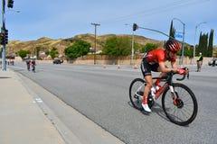 Santa Clarita, Ca U.S.A. 18 maggio 2019 Giro di AMGEN della corsa della fase 7 di California attraverso Santa Clarita sul modo a  fotografia stock
