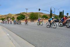 Santa Clarita, Ca U.S.A. 18 maggio 2019 Giro di AMGEN della corsa della fase 7 di California attraverso Santa Clarita sul modo a  fotografie stock libere da diritti