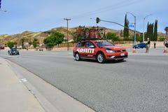 Santa Clarita, Ca U.S.A. 18 maggio 2019 Giro di AMGEN della corsa della fase 7 di California con Snta Clarita sul modo a Pasadena fotografia stock