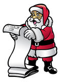 Santa claud hold the letter Stock Photos
