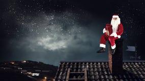 Santa Claus är redan här Royaltyfria Foton