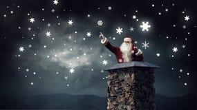 Santa Claus är redan här Blandat massmedia Royaltyfri Foto
